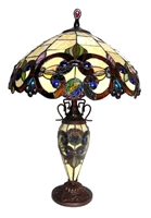 Picture of  CH18648IV18-DT3 Double Lit Table Lamp