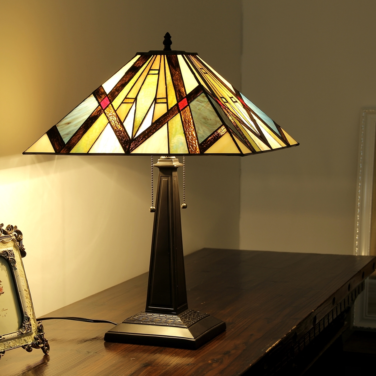 Chloe lighting inc tiffany lamp tiffany lamps tiffany style chloe lighting bedivere tiffany style 2 light mission table lamp 16 shade geotapseo Choice Image