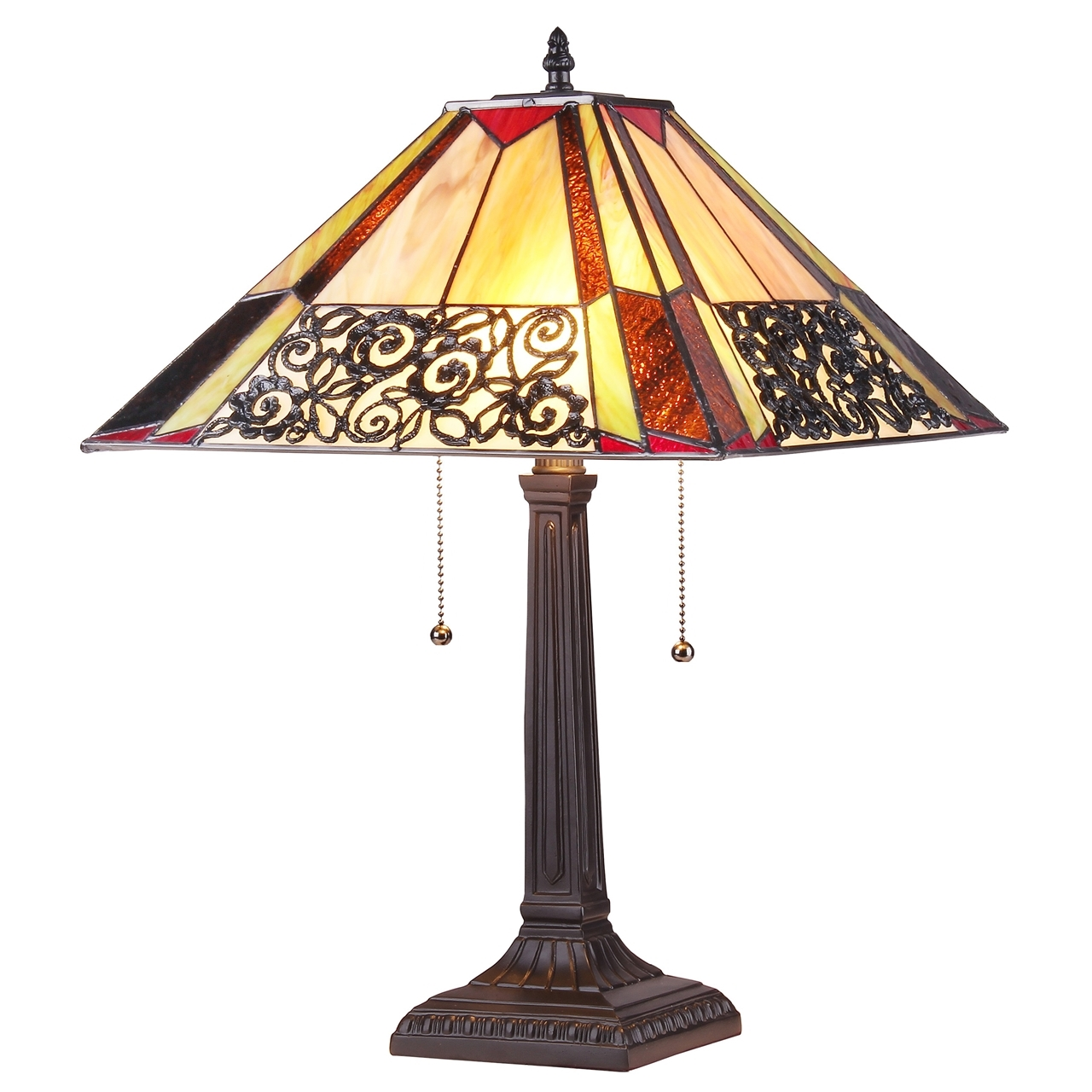 Chloe lighting inc tiffany lamp tiffany lamps tiffany style chloe lighting evelyn tiffany style 2 light mission table lamp geotapseo Choice Image