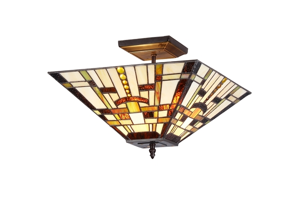 Chloe lighting inc tiffany lamp tiffany lamps tiffany style lamp picture of ch33290ms14 uf2 mission semi flush ceiling light aloadofball Choice Image