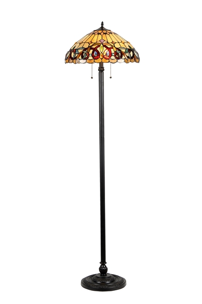 Chloe lighting inc tiffany lamp tiffany lamps tiffany style lamp picture of ch33353vr18 fl2 floor lamp aloadofball Images