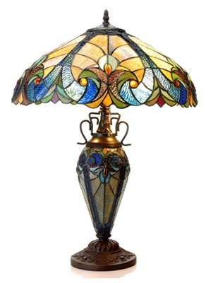Picture of  CH18780VA18-DT3 Double Lit Table Lamp