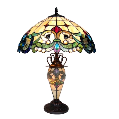 Picture of CH18767IV18-DT3 Double Lit Table Lamp