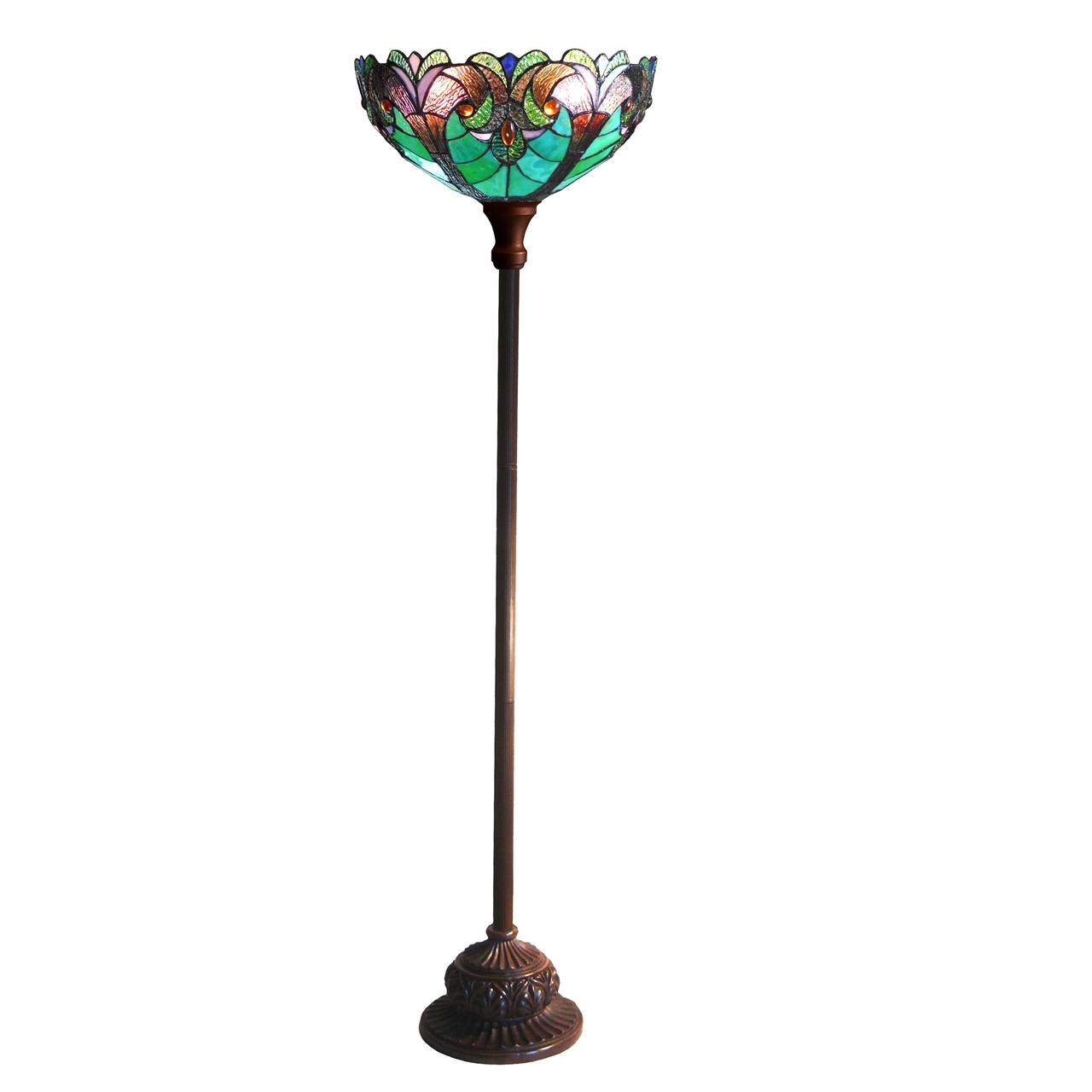 Picture Of Ch18780vg15 Tf1 Torchiere Floor Lamp