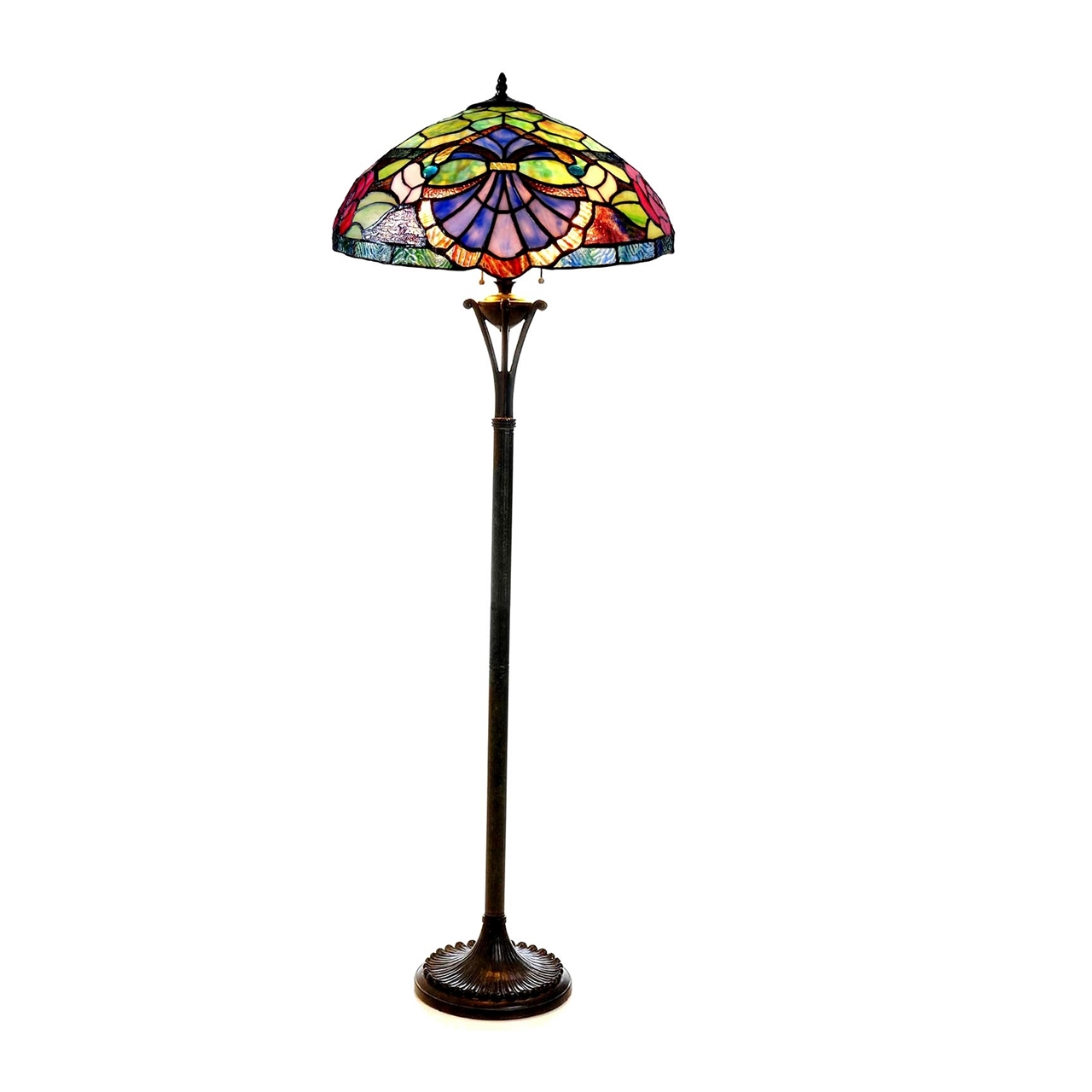 Chloe lighting inc tiffany lamp tiffany lamps tiffany style lamp picture of ch18982gv18 fl2 floor lamp aloadofball Images