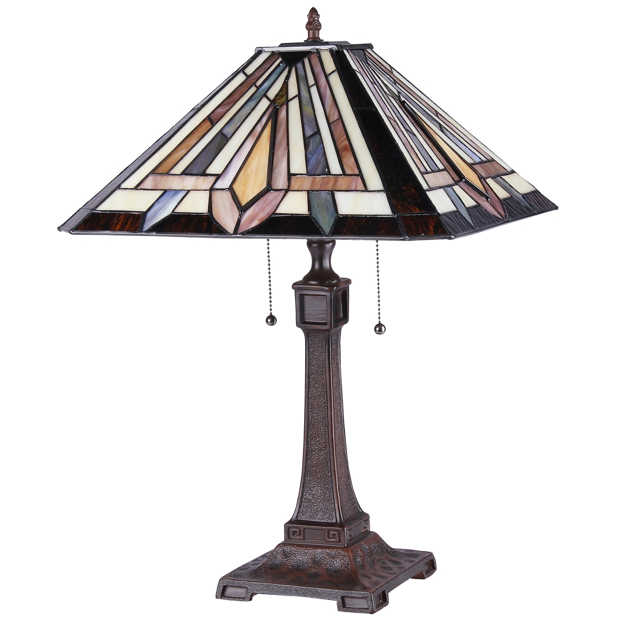 ... CHLOE Lighting DENTON Tiffany Style 2 Light Mission Table Lamp ...
