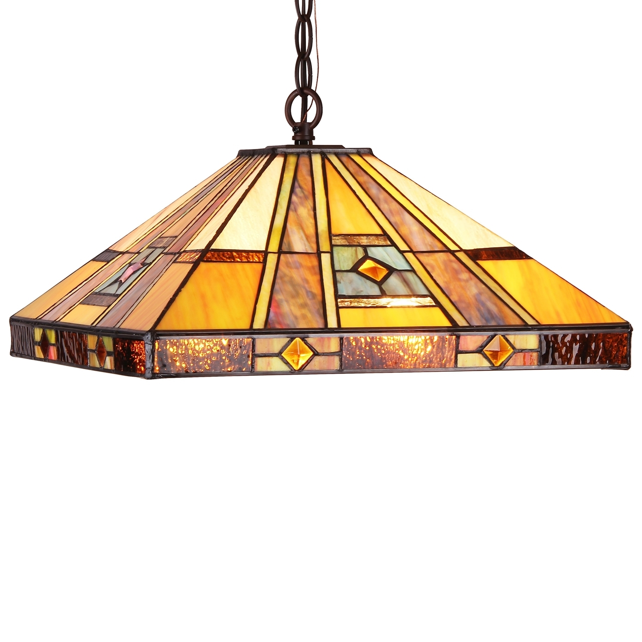 Chloe lighting ely tiffany style 2 light hanging pendant fixture