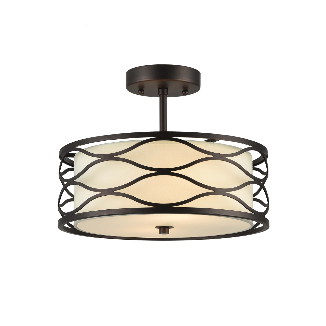 Chloe Lighting Inc Chloe Lighting Gwen Transitional Oil Rubbed Bronze 2 Light Semi Flush